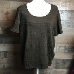 NWT Ralph Lauren dark chocolate size 1x top blouse